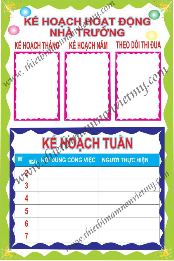 Bảng KHHD nhà trường
