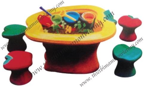 Bộ bàn ghế chơi cát nước quả táo