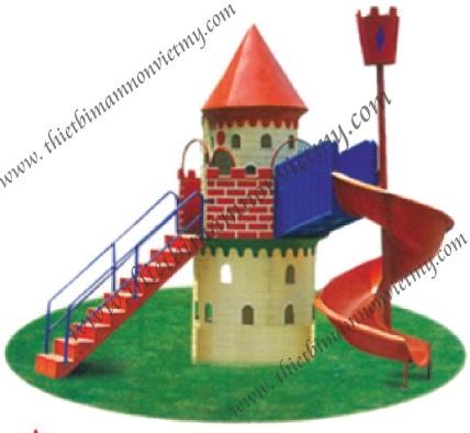 Bộ lâu đài - cầu trượt xoắn