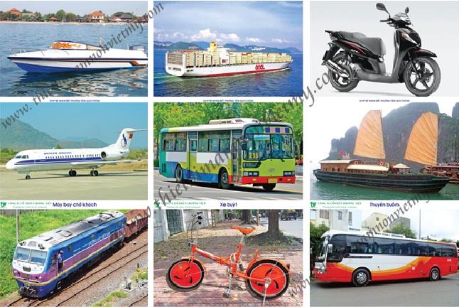 Tranh các phương tiện giao thông