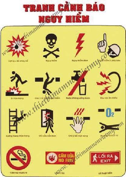 Tranh cảnh báo nguy hiểm